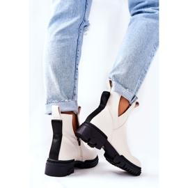 POTOCKI Witte Corano-laarzen met een ritssluiting 4