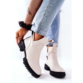 POTOCKI Witte Corano-laarzen met een ritssluiting 7