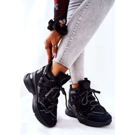 POTOCKI Sport zwarte Hesane sleehak schoenen 5