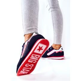 Leren sportschoenen Big Star II274270 Marineblauw wit rood 4