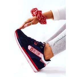 Leren sportschoenen Big Star II274270 Marineblauw wit rood 6