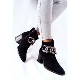 Leren laarzen met ketting Laura Messi Zwart 2345 3