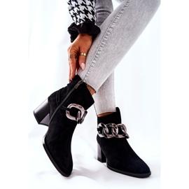 Leren laarzen met ketting Laura Messi Zwart 2345 2