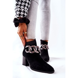 Leren laarzen met ketting Laura Messi Zwart 2345 1