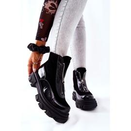Leren geïsoleerde laarzen Laura Messi Zwart 2371 1