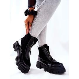 Leren geïsoleerde laarzen Laura Messi Zwart 2371 2