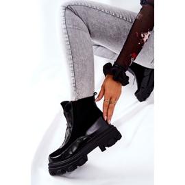 Leren geïsoleerde laarzen Laura Messi Zwart 2371 3