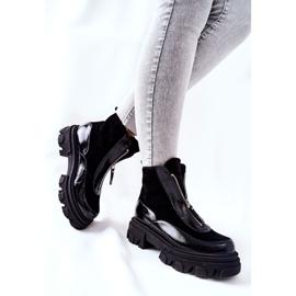 Leren geïsoleerde laarzen Laura Messi Zwart 2371 4