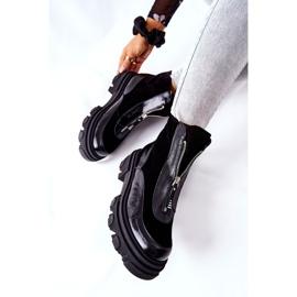 Leren geïsoleerde laarzen Laura Messi Zwart 2371 6
