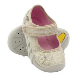 Meisjes slippers buigen Befado goud 3