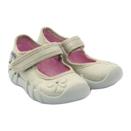 Meisjes slippers buigen Befado goud 4
