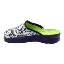 Befado kinderschoenen slippers om in te kleuren wit marine blauw 2