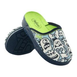 Befado kinderschoenen slippers om in te kleuren wit marine blauw 3