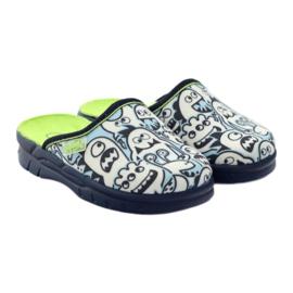 Befado kinderschoenen slippers om in te kleuren wit marine blauw 4